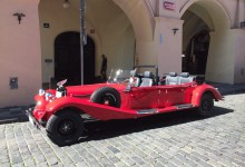 Prague by vintage car